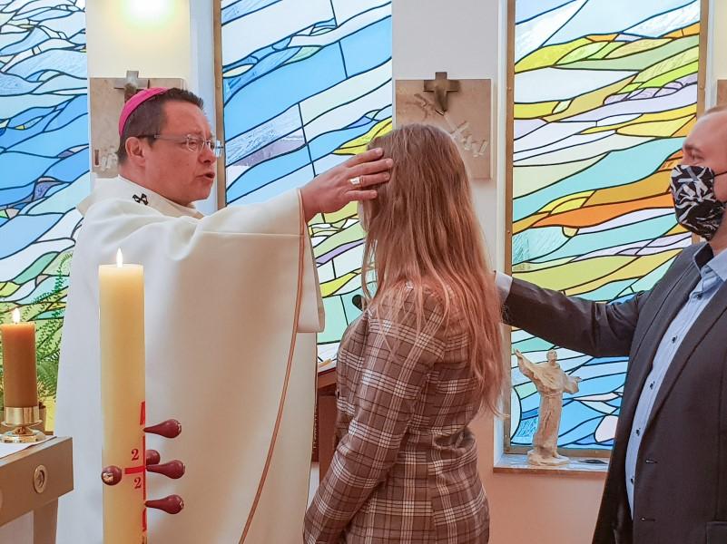 Bierzmowanie w kaplicy biskupiej