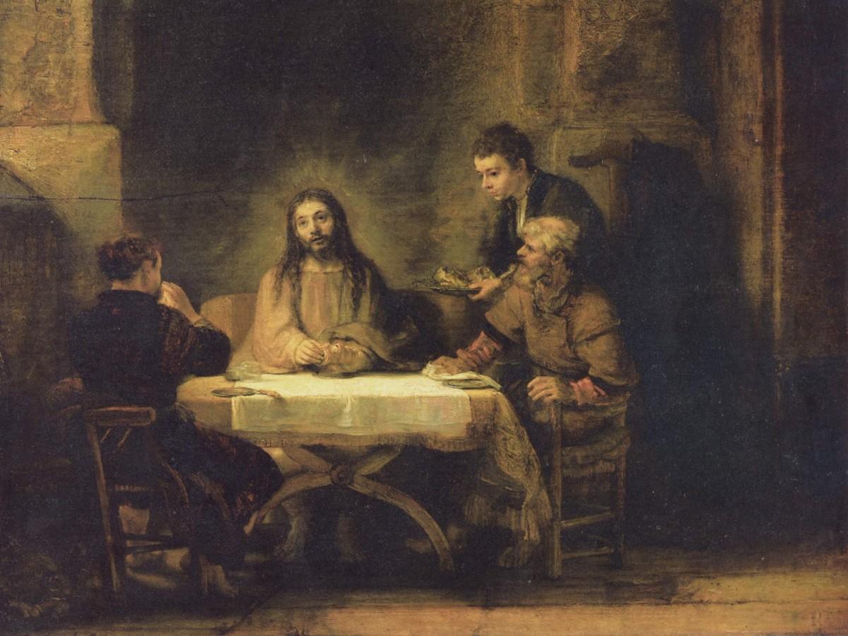 """Rembrandt, """"Wieczerza w Emaus"""""""