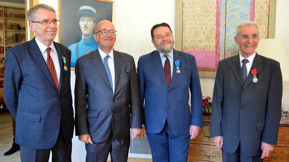 Henryk Woźniakowski, ambasador Pierre Lévy, Konstanty Gebert i o. Stanisław Opiela SJ