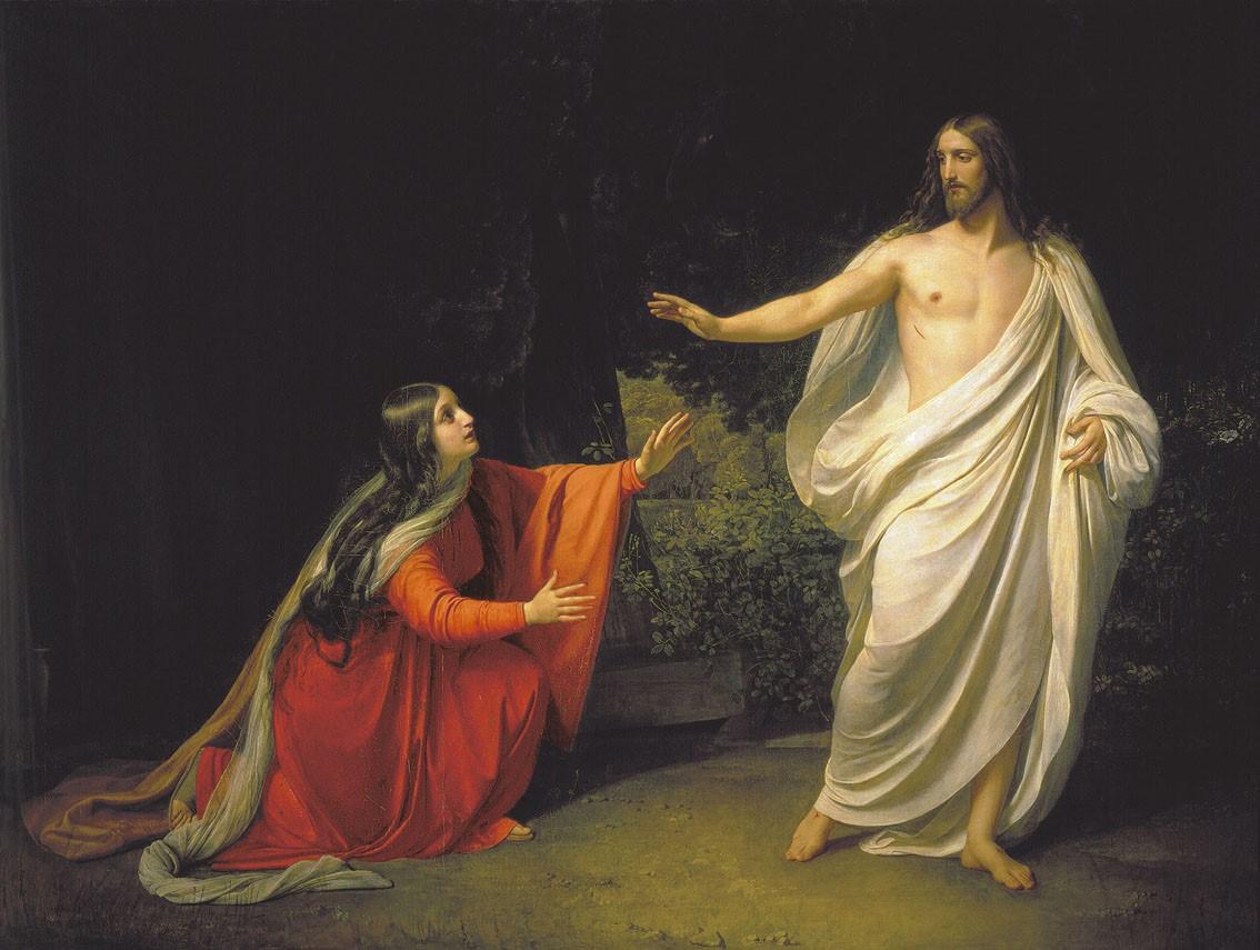 """Aleksander Iwanow, """"Chrystus ukazuje się Marii Magdalenie"""", 1834"""