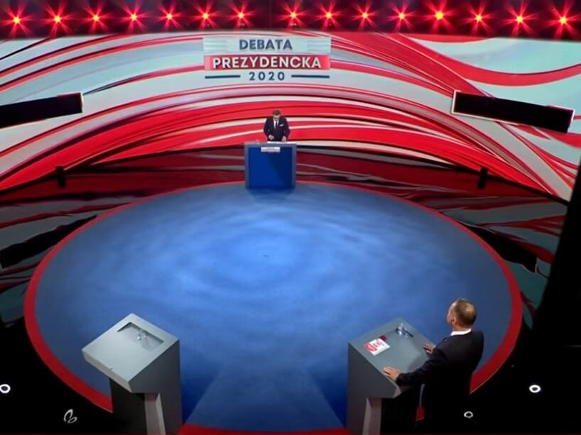 Andrzej Duda w pozorowanej debacie prezydenckiej TVP