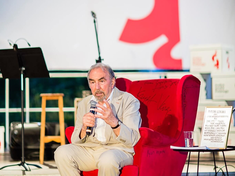 Janusz Degler na Festiwalu Stolica Języka Polskiego w Szczebrzeszynie 6 sierpnia 2020 r.