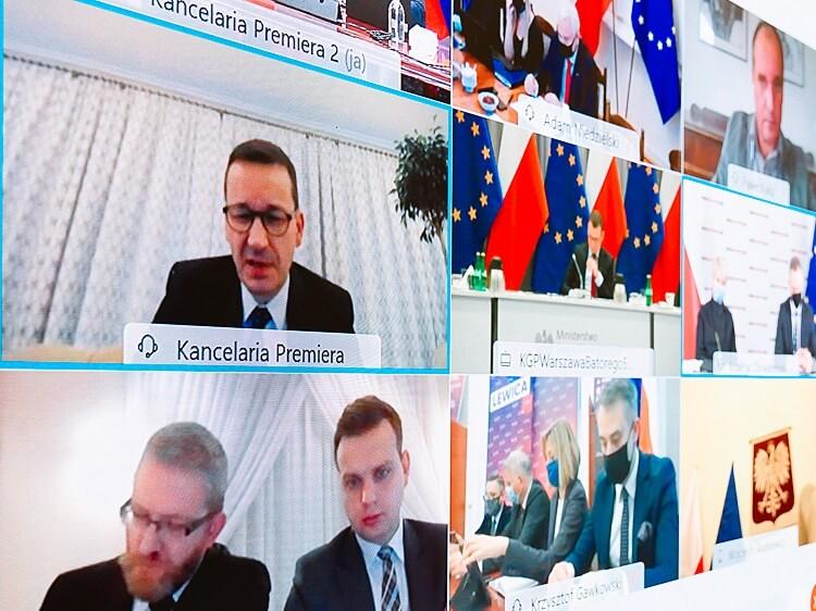 Spotkanie premiera Mateusza Morawieckiego z przedstawicielami opozycji na temat pandemii COVID-19