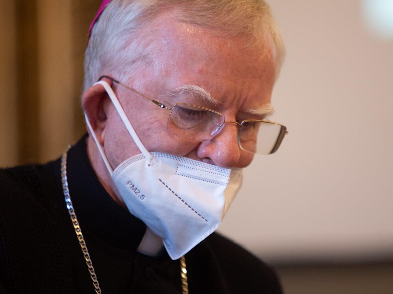 Abp Marek Jędraszewski podczas obrad episkopatu w Łodzi 5 października 2020
