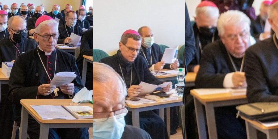 Abp Wiktor Skworc, bp Mirosław Milewski i bp Jan Tyrawa
