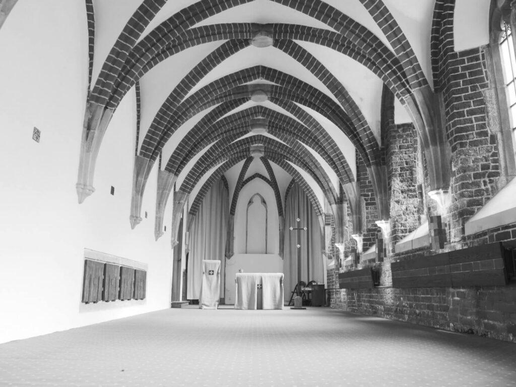 Wnętrze kaplicy akademickiej w dominikańskim kościele św. Wojciecha we Wrocławiu